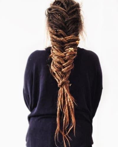 Дреды в косе